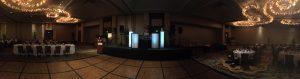 Coral Ballroom formal event setup