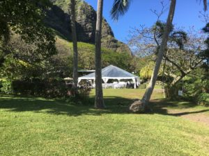 kualoa wedding tent