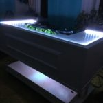 LED lights on DJ booth