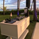 Frobaby Luxe DJ booth at Lanikuhonua