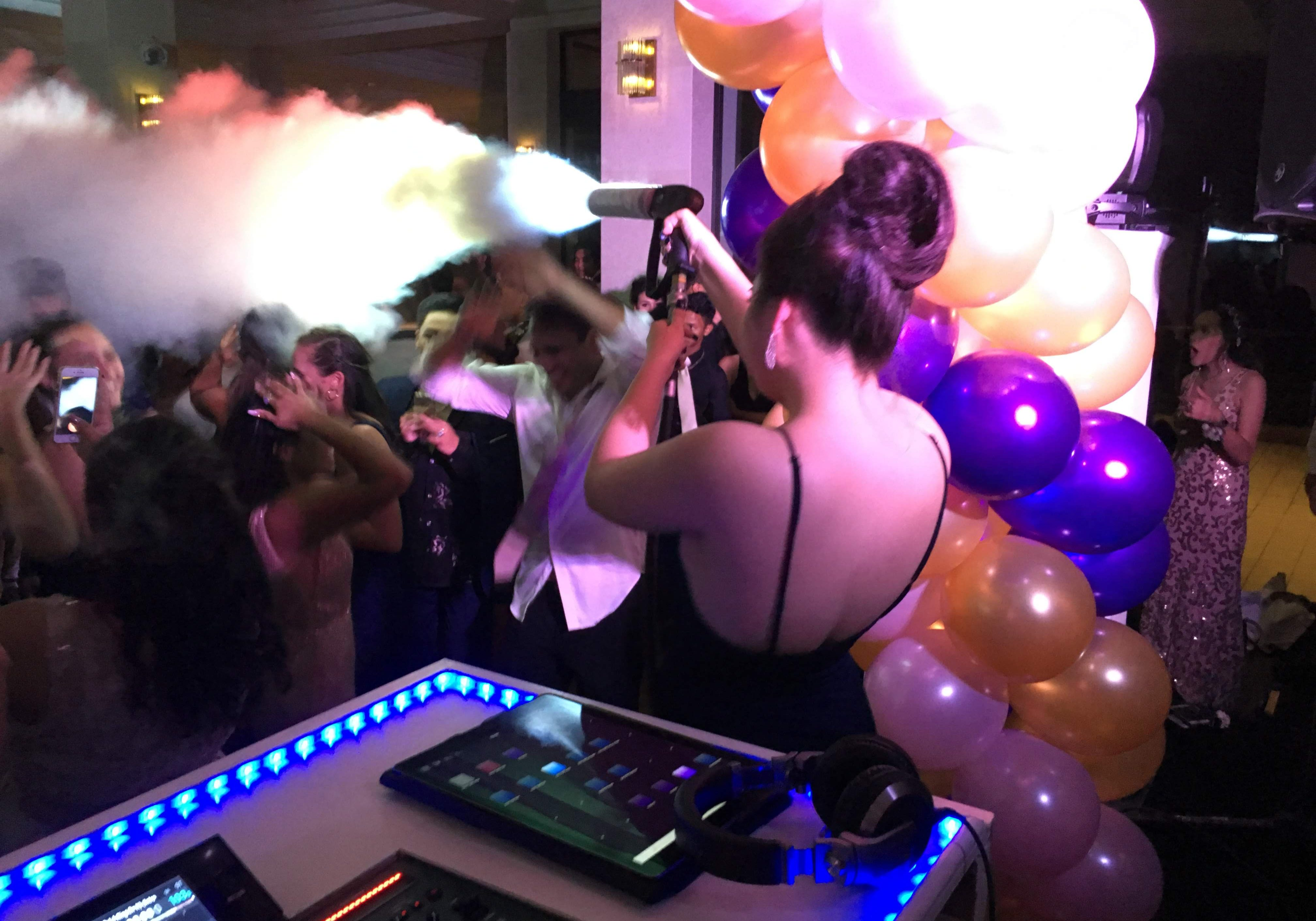 Honolulu prom DJ services with CO2 cannon